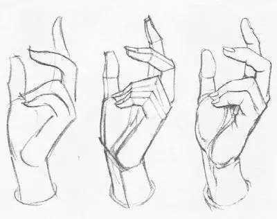手的各种姿势画法简笔画(5张)-点赞啦