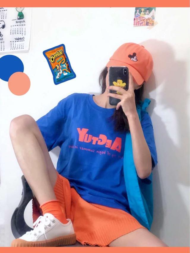 夏日马卡龙系少女感穿搭,撞色时尚值得收藏,无敌青春