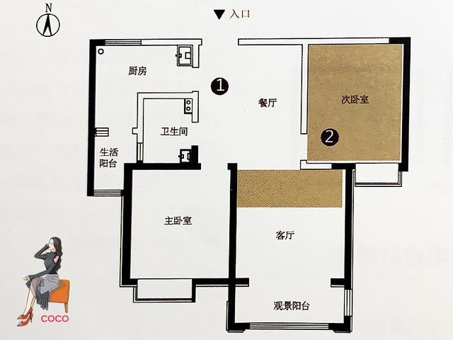 二室改三室最佳户型图