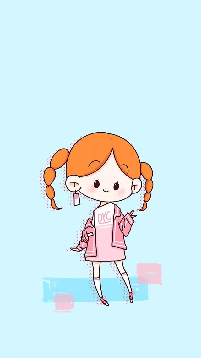 可爱的小女孩简笔画~萌萌哒~