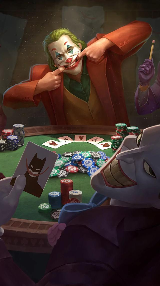 美国小丑强颜欢笑图