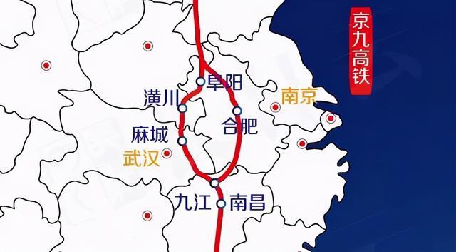 中国京九高铁线路图