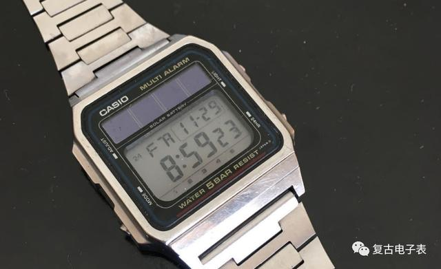 卡西欧光动能初代全金属经济版——CASIO wl 50