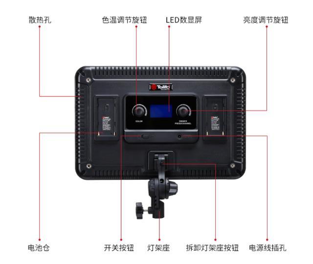 微电影拍摄补光,图立方PT-F60B大功率LED摄影灯平板灯