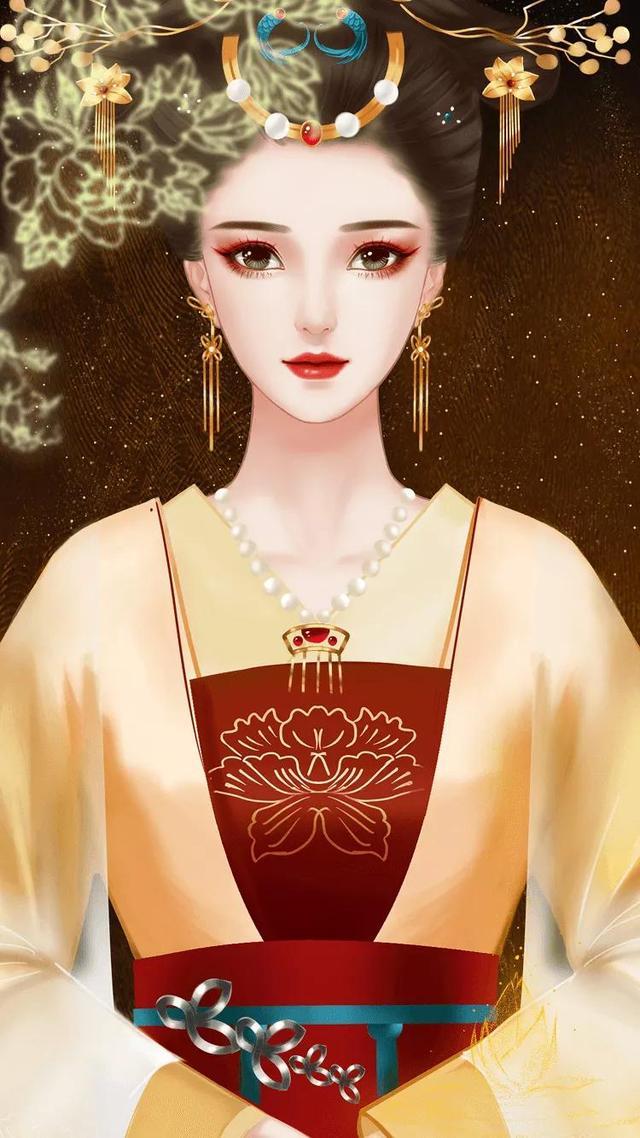 古代皇后卡通图片可爱