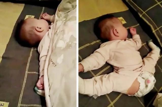 婴儿卧睡姿图解