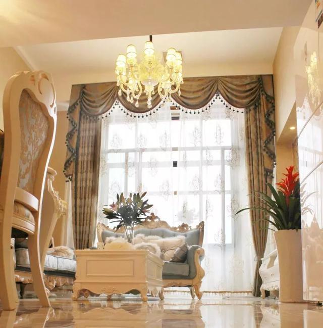 客厅欧式窗帘效果图
