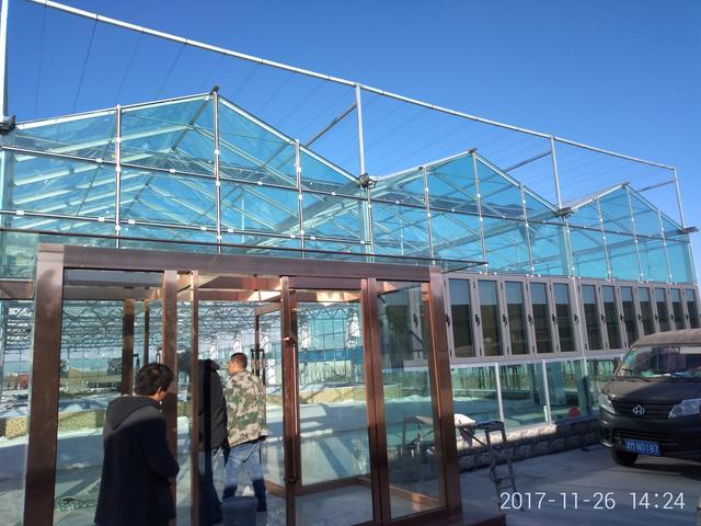...连栋温室大棚设计cad全套施工图纸(标注详细,15图)_土木在线
