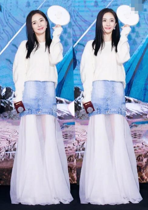 为什么杨幂最爱穿裙子,不爱穿裤子,看了照片你就懂了