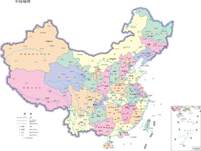 中国各省份地图精华版(含人口、行政划分)_word文档... _无忧文档