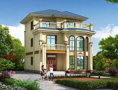 造价25万内的农村二层半复式小别墅设计图,大露台+挑空客厅