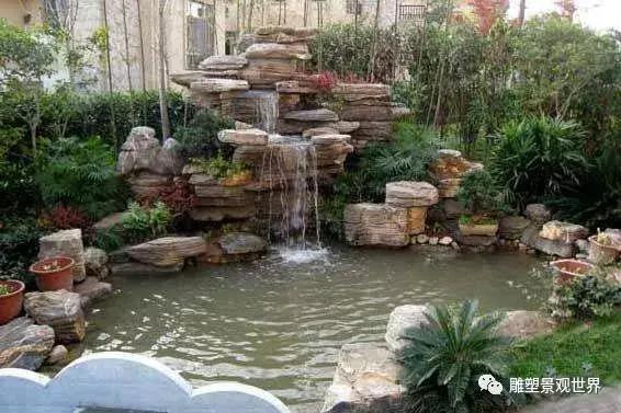 超大型假山流水喷泉景观花园摆件,有山有水美轮美奂犹如人间仙境