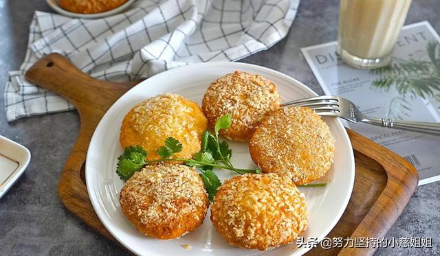 用普通面粉做红薯丸子