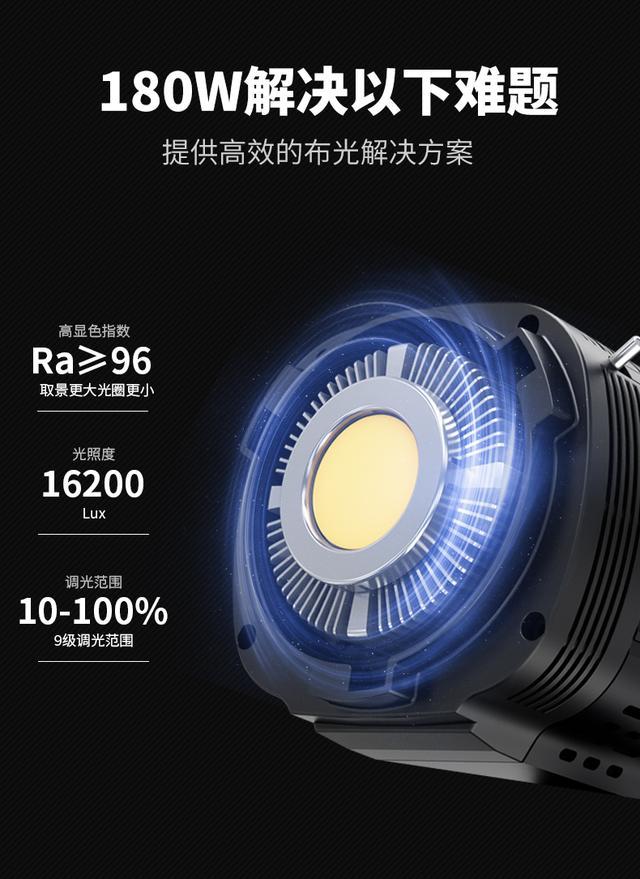 图立方SK180W摄影灯常亮补光拍摄打光灯美颜淘宝服装直播灯太阳灯