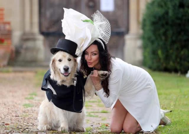 这是什么操作:约会200次仍未找到真爱,英国女子嫁给宠物狗