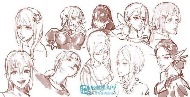 动漫脸型的100种画法   第一弹-有弹友,不孤单!