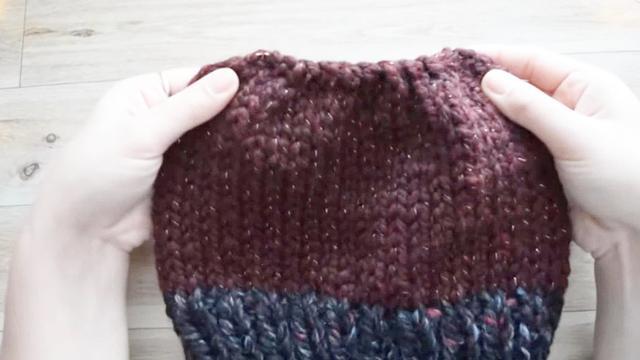 软妹子私房手作(03):韩式韩版超粗毛线帽编织教程