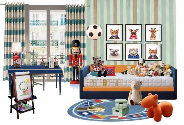 男孩儿童房创意设计