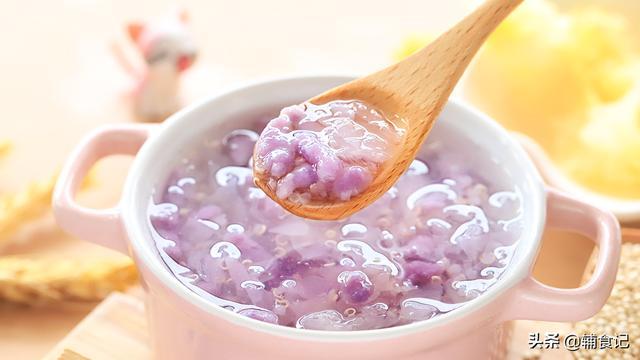 紫薯和白醋煮粥的功效