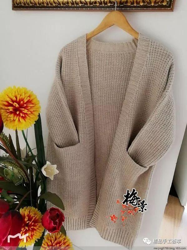 棒针编织经典漂亮的中长款麻花毛衣,怎么穿都好看,... _腾讯网