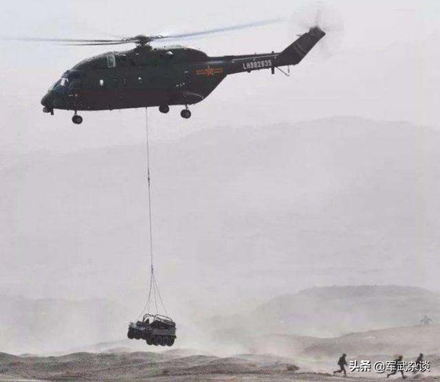 """中国直-8G,可在4500米高原吊运火炮,对标印军""""支奴干""""直升机"""