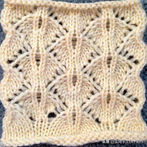 几款漂亮的小衫毛衣编织花样图解