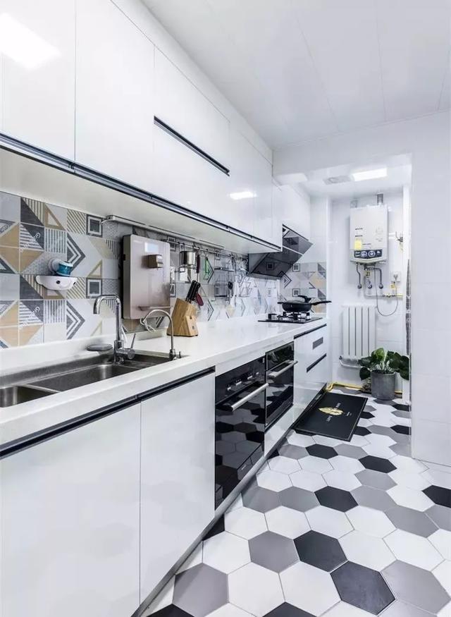 36张厨房墙砖整体搭配实拍图,很全的参考了