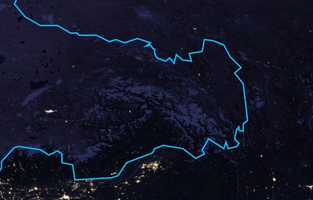 藏南印占区地图