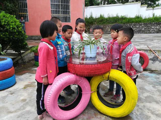 【创意环创】幼儿园轮胎环创~~这个真的太棒了 - 今天看啥