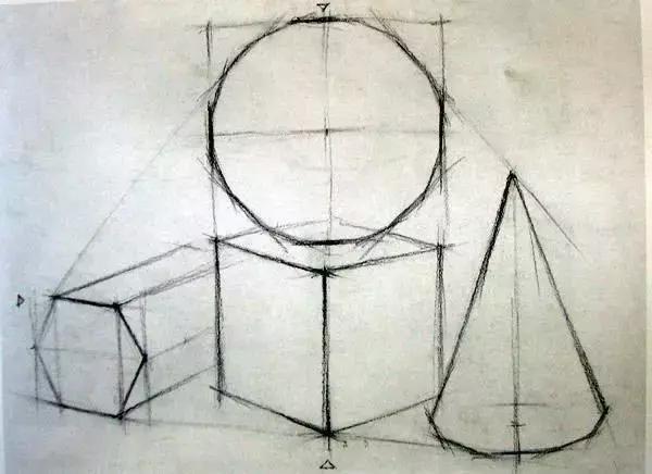调子素描几何体组合