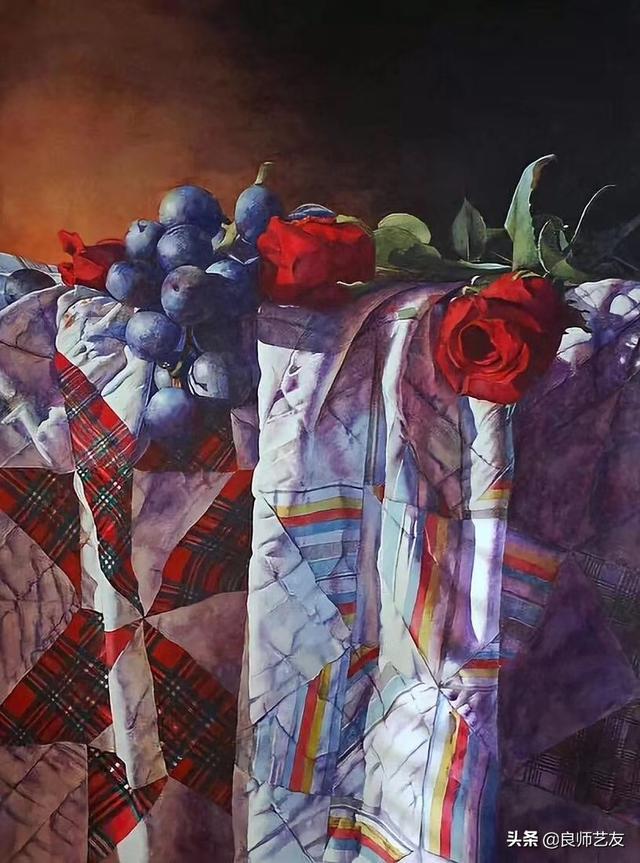 水彩|国外绘画大师的一组水果静物水彩作品,喜欢的速速收藏