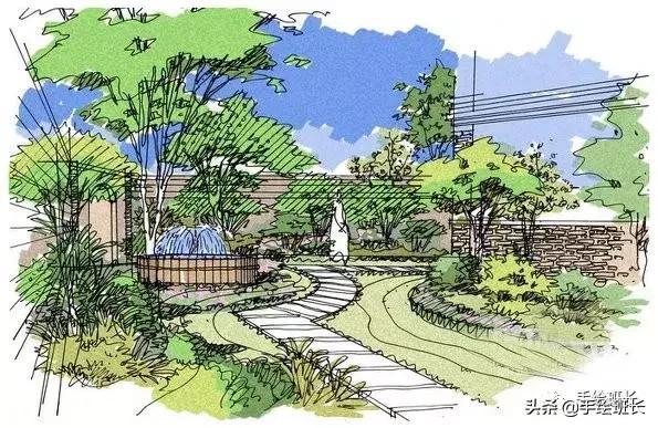 花境手绘图:那些花园,那些花儿......