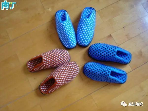 棒针编织毛线拖鞋详细编织方法图解