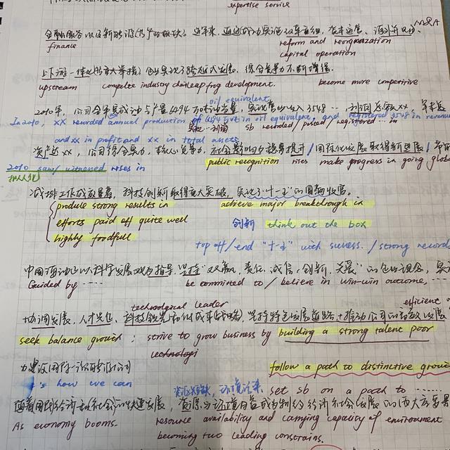 英语笔记图片