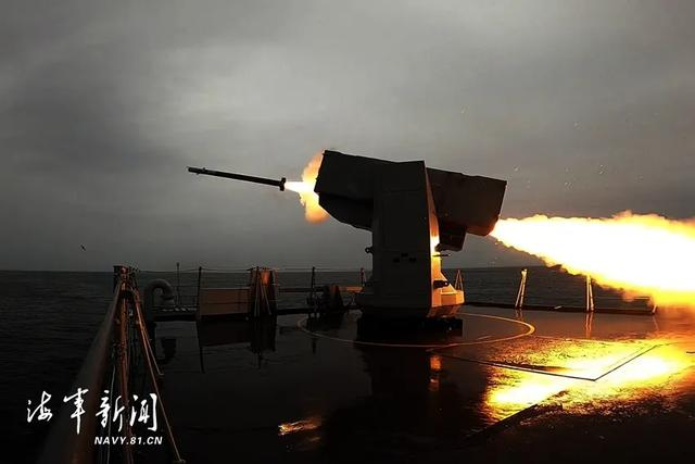 砺剑黄海,战舰火力全开