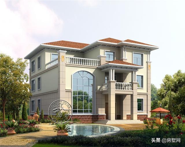 二层半现代别墅建房参考,占地180平方,最为低调的炫富