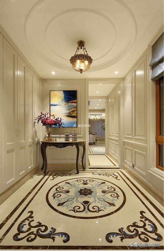 380㎡简欧风格,浪漫优雅,你所向往的房子都经过精致的修饰