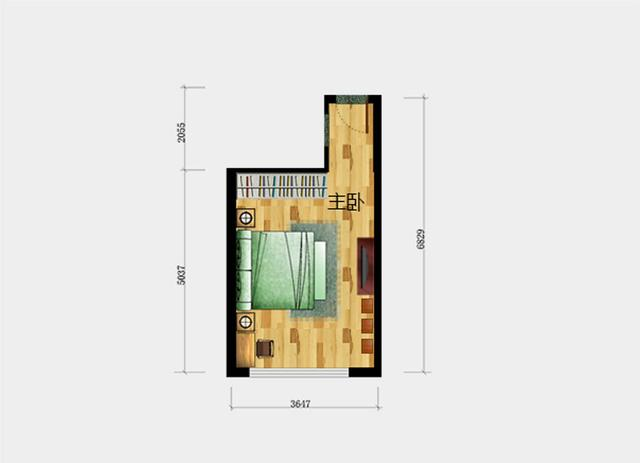 请问下长方形的卧室怎么摆放家具好看呢?