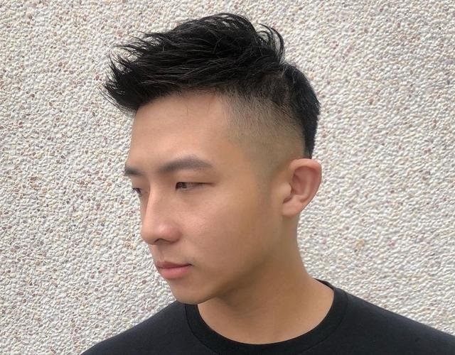 发型男短发两边剃掉