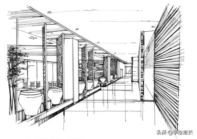 餐厅快题设计手绘图