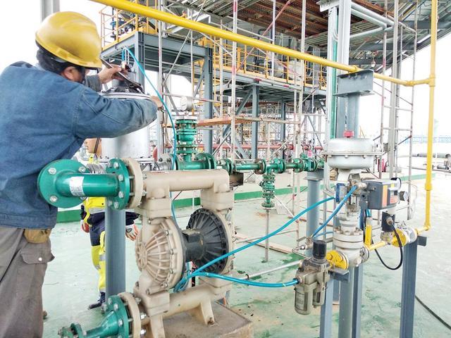 气动隔膜泵内部安装图