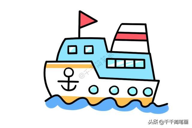 嘉兴红船卡通图片