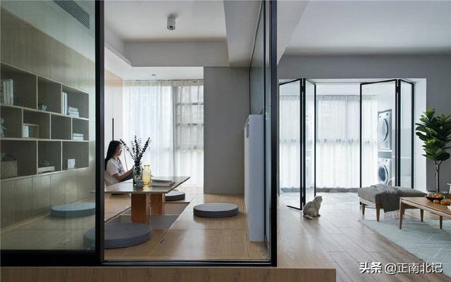 现代简约家居风,如何搭配一间清新淡雅的茶室?