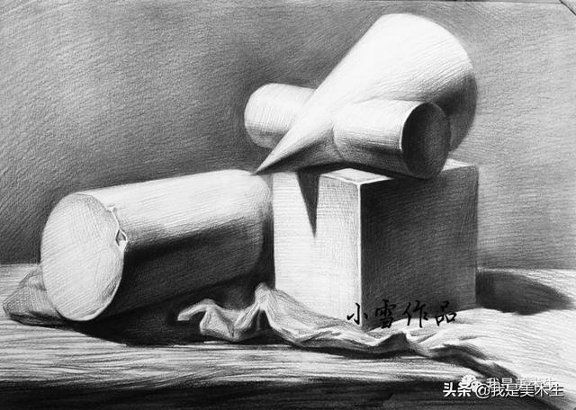 素描丨最详细的【石膏几何体】_品略