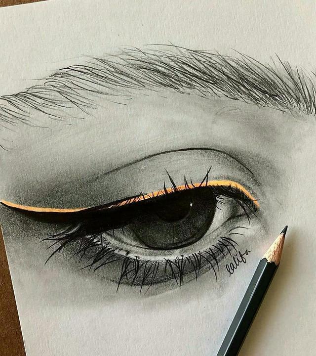 一组画得不错的眼睛 | 绘画作品欣赏