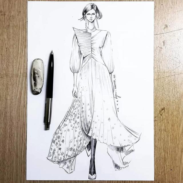 职业装服装系列效果图