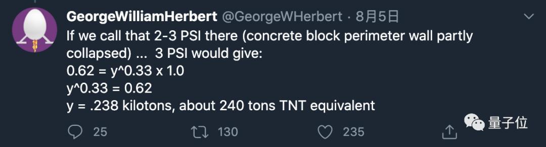 黎巴嫩首都爆炸能量有多大?物理学家看视频计算:300吨TNT