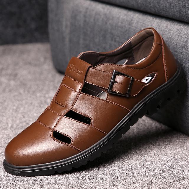男子增高皮鞋
