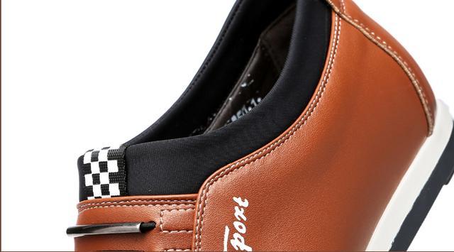 男士内增高皮鞋8厘米