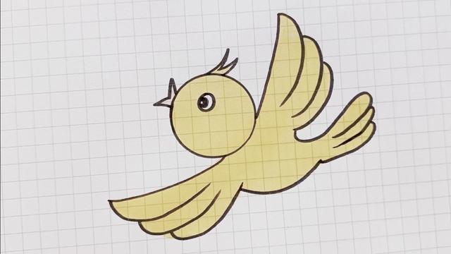 小鸟怎么画教程